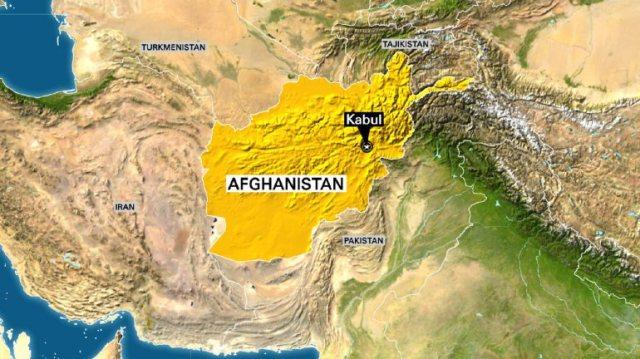Map of Afghanistan highlighting Kabul
