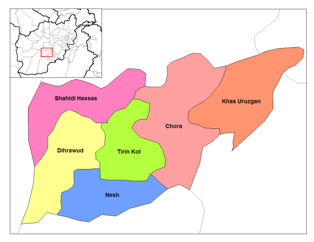 Oruzgan_districts